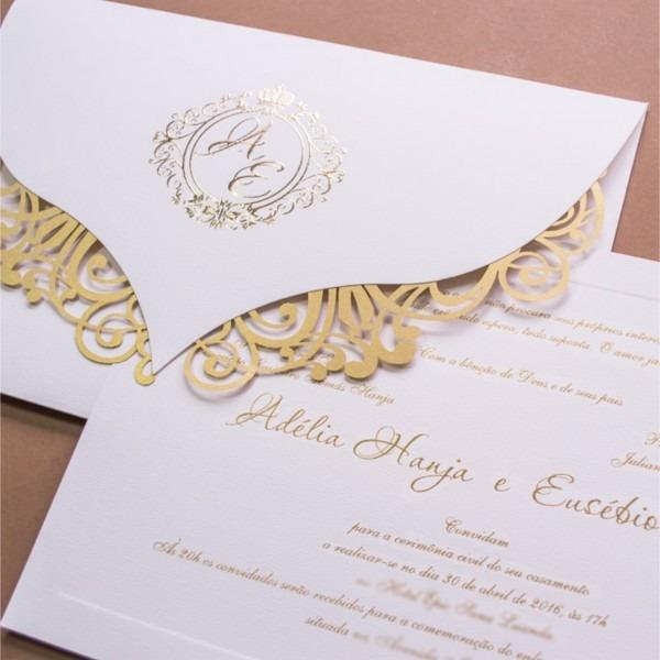 Convites De Casamento Corte A Laser