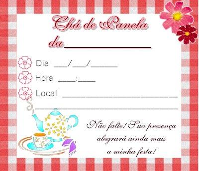 Convite De ChÁ De Panela