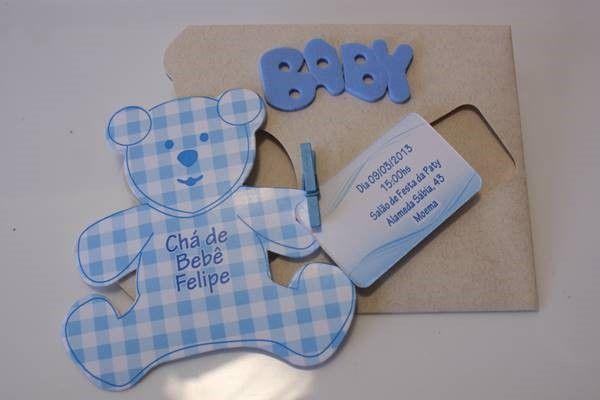Convite De Chá De Bebê Em E V A  – Modelos De Convite
