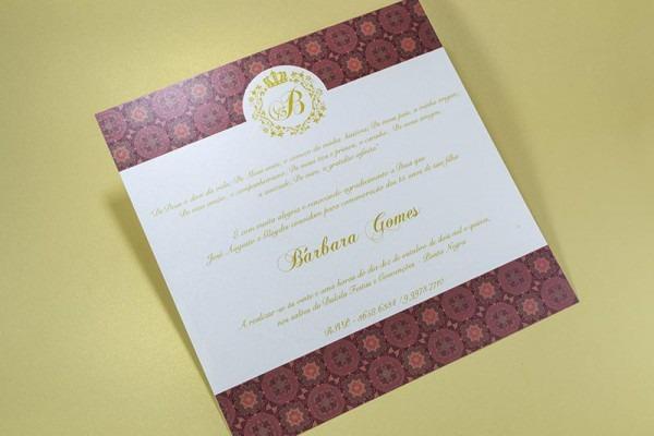 Convite Debutantes 15 Anos Bruna