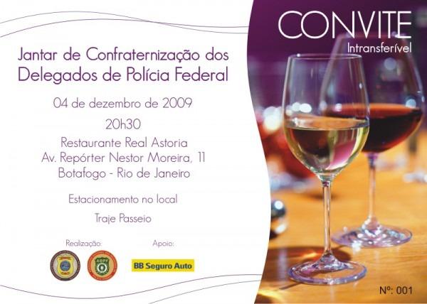 Convite – Jantar De Confraternização