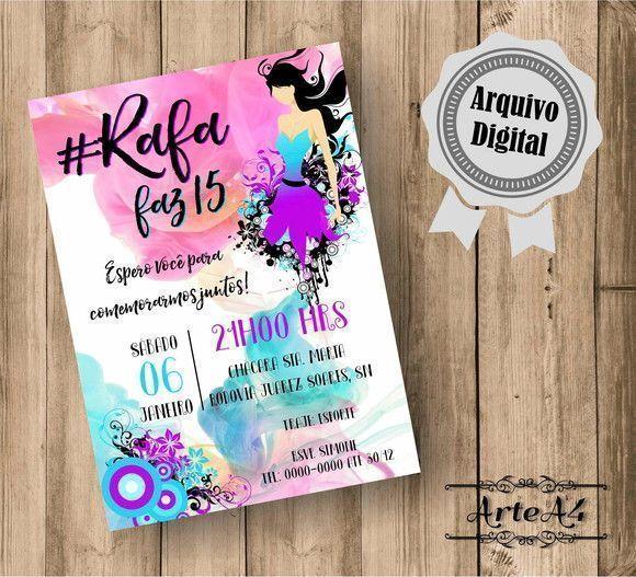 Convite Digital 15 Anos Balada