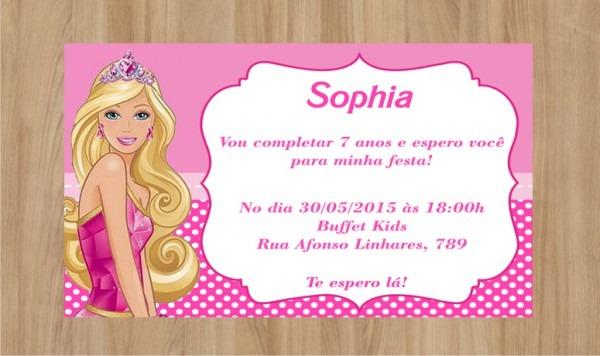 Convite Digitais Barbie