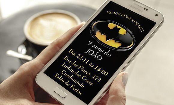 Convite Digital Batman Whatsapp