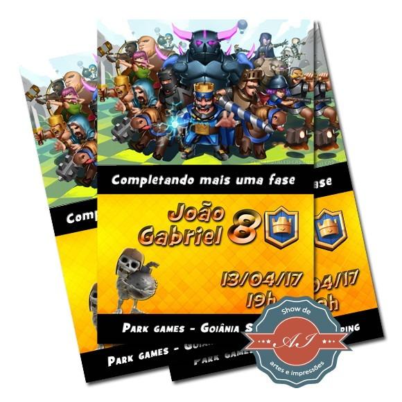 Convite Digital Clash Royale No Elo7