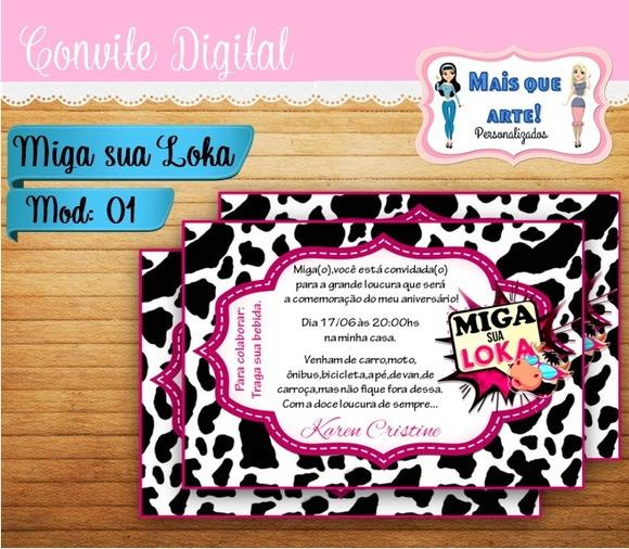 Convite Digital Miga Sua Loka