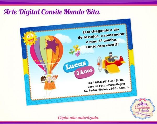 Convite Digital Mundo Bita No Elo7