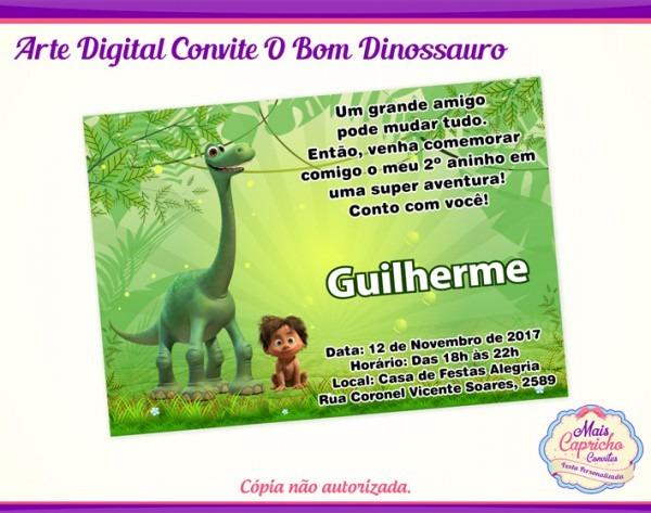Convite Digital O Bom Dinossauro No Elo7