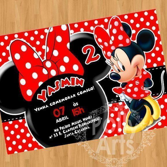 Convite Digital Virtual Minnie Vermelha 02