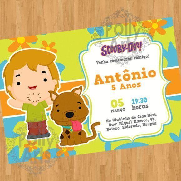 Convite Digital Virtual Scooby Doo