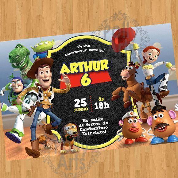 Convite Digital Virtual Toy Story