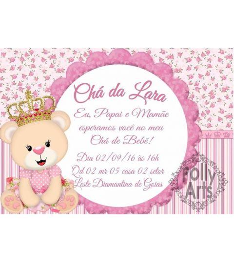 Convite Digital Virtual Ursinha Princesa