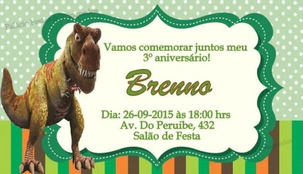Convite Dinossauro No Elo7