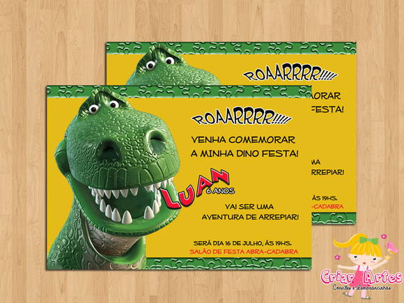 Convite Dinossauros No Elo7