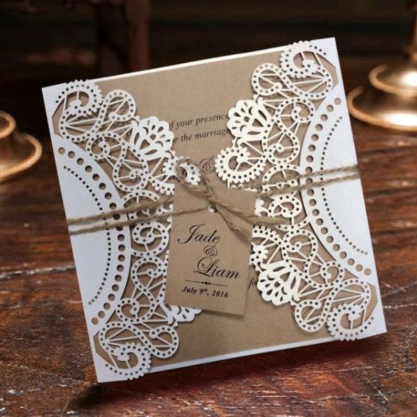 Convite Do Casamento, O Laço Branco Cartões Do Convite Lista De