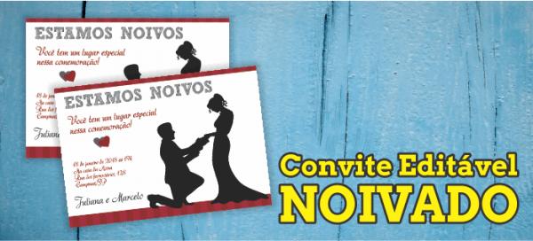Convite Editável De Noivado Estamos Noivos