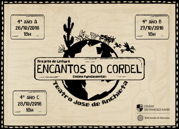Projeto De Leitura  Encantos Do Cordel – Colégio São Francisco Xavier