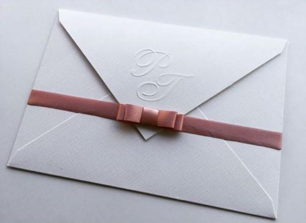 Convite Envelope Com Fita E Laço Ref 495