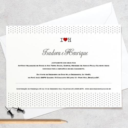 Arte Convite Casamento – Faixa De Bolinhas Digital – Tem Amor No Papel