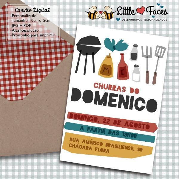 Convite Festa Churrasco Para Imprimir No Elo7