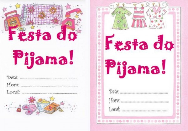 27 Convites Para Festa Do Pijama – Modelos De Convite