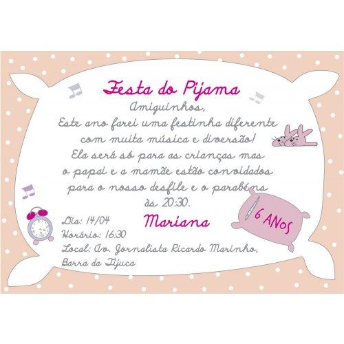 Convite Festa Do Pijama Ii