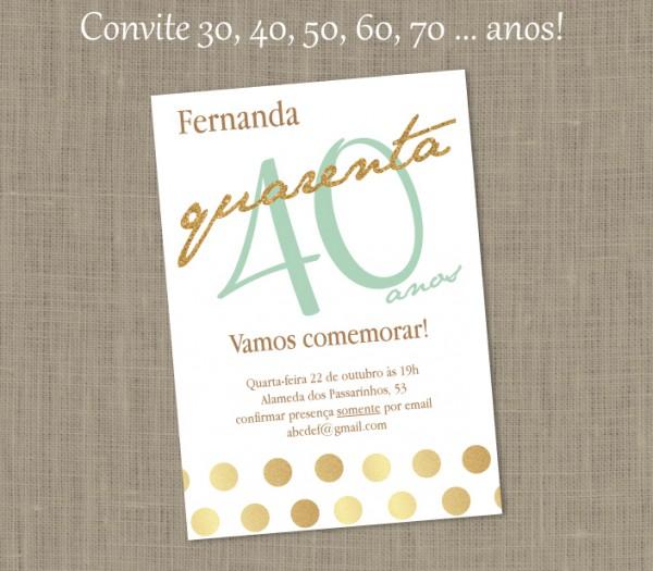 Convite Festa Especial Feminino Luxo No Elo7