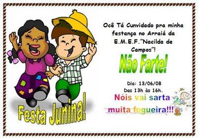 Modelos Convites Festa Junina