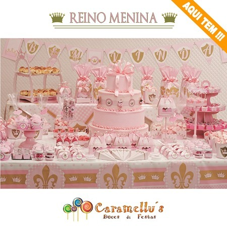 Convite Festa Reino Menina C 16 Cromus
