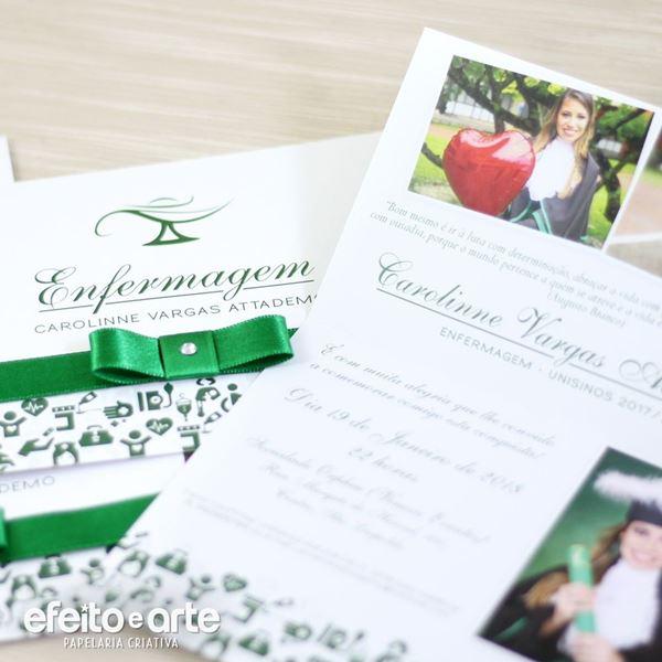 Convites De Formatura De Enfermagem  +25 Modelos! – Modelos De Convite