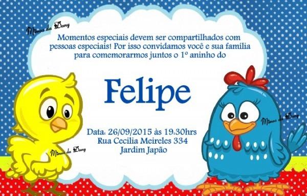 Convite Galinha Pintadinha No Elo7