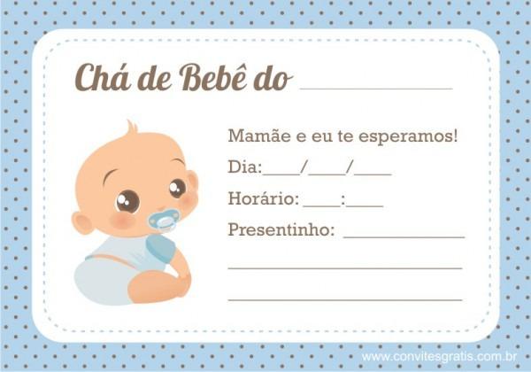 Convites Grátis  Convites Para Chá De Bebê