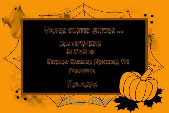 Convite Halloween No Elo7