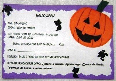 Convite De Festa De Halloween – Modelos De Convite