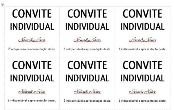 Convite Individual Para Baixar E Imprimir Em Casa