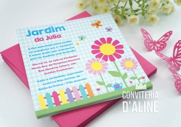 Blog Conviteria D'aline  Festa Jardim Personalizada Para A Júlia