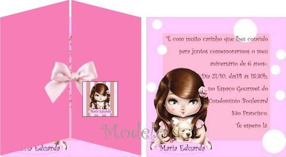Convite Jolie Morena No Elo7