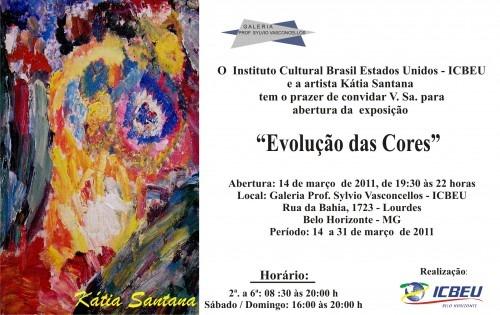 """Convite Para Exposição """"evolução Das Cores"""""""
