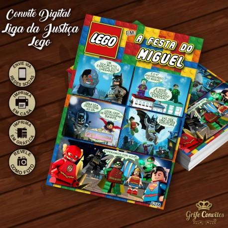 Convite Lego Liga Da Justiça