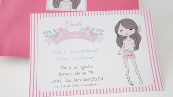 Convite Festa Meninas Convite 11 Anos