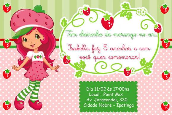 Convite Moranguinho No Elo7
