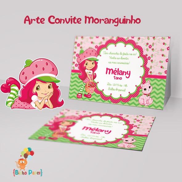 Convite Moranguinho (arte Digital) No Elo7