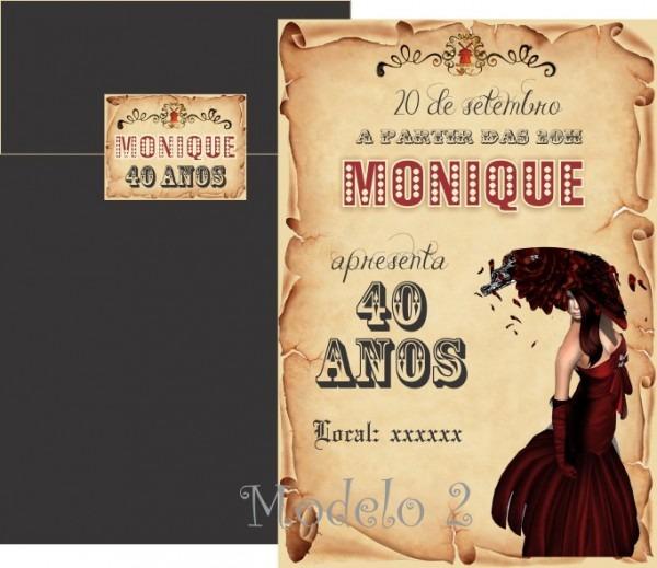 Convite Moulin Rouge No Elo7