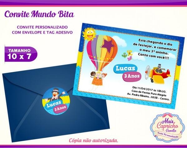 Convite Mundo Bita No Elo7