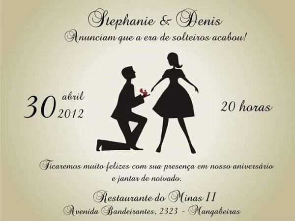 26 Convites Especiais Para Noivado – Modelos De Convite
