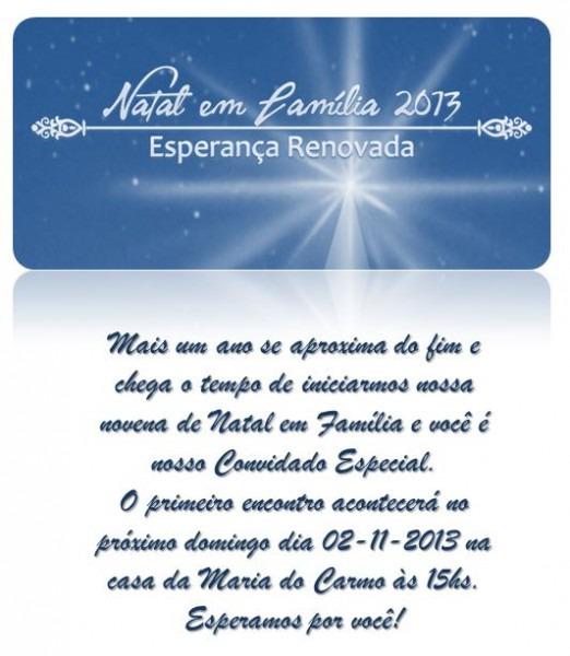 Novena De Natal – 2013