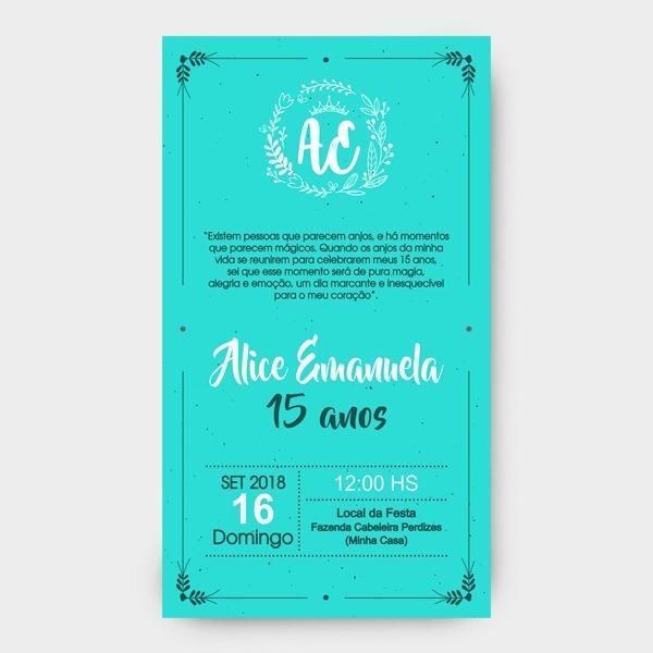 Convite Online Para Debutante 15 Anos Somente A Arte