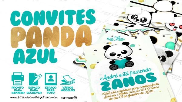 Convite Panda Menino Grátis Para Baixar E Imprimir Em Casa