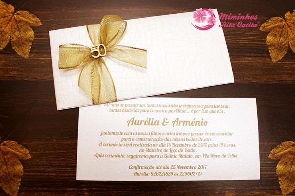 Convites Para Bodas De Ouro 50 Anos Personalizados