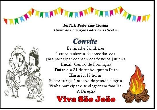 Convite Para Festa Junina    Avaré